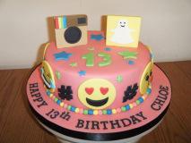 emoji-social-media-cake