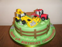 tractor-and-digger-cake
