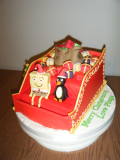 santa-sleigh-spongebob-cake