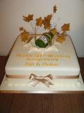 50th-wedding-anni-chanpagne-bottle-cake